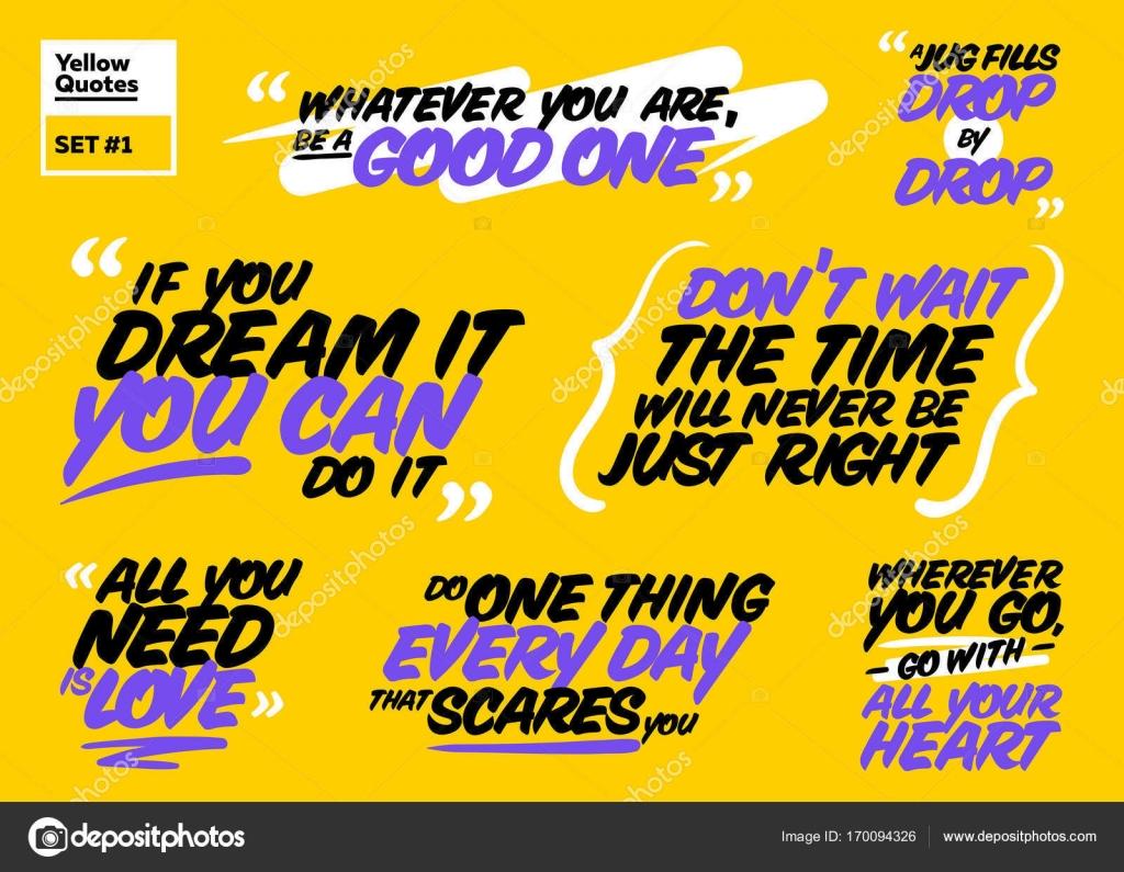 Inspirational Phrases Vector Set Of Motivational Quotesinspiring Short Phrases