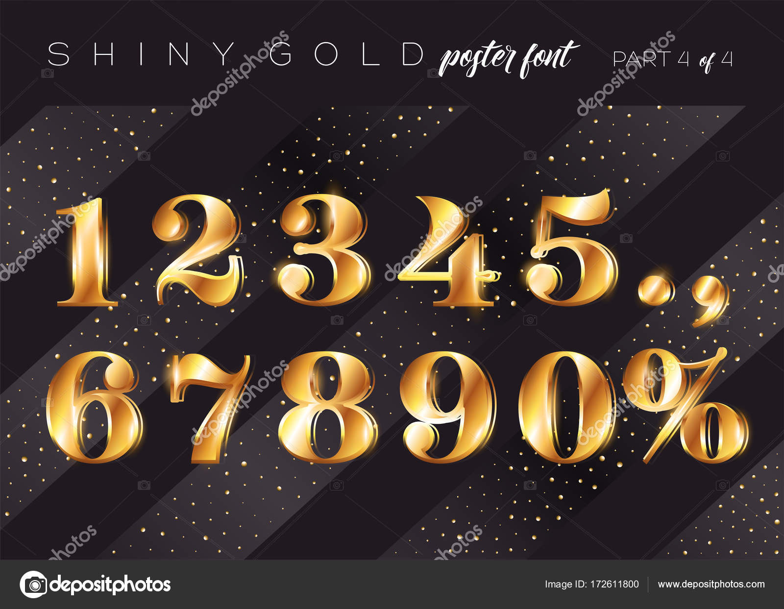 realistic metallic typeface in gatsby style festive 3d letters for christmas poster xmas greeting card invitation design rich stylish retro typography