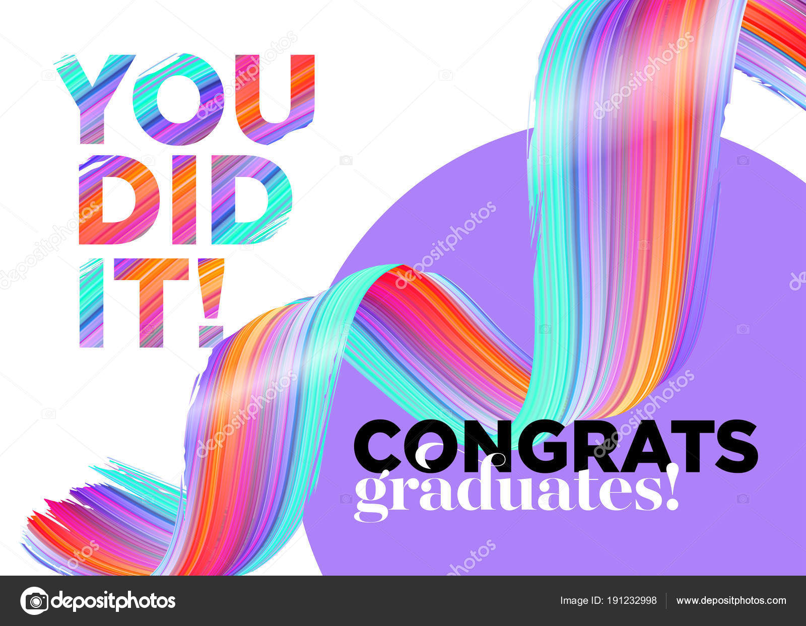 You Did It Congratulations Graduates Class of 2018 Vector Logo ...