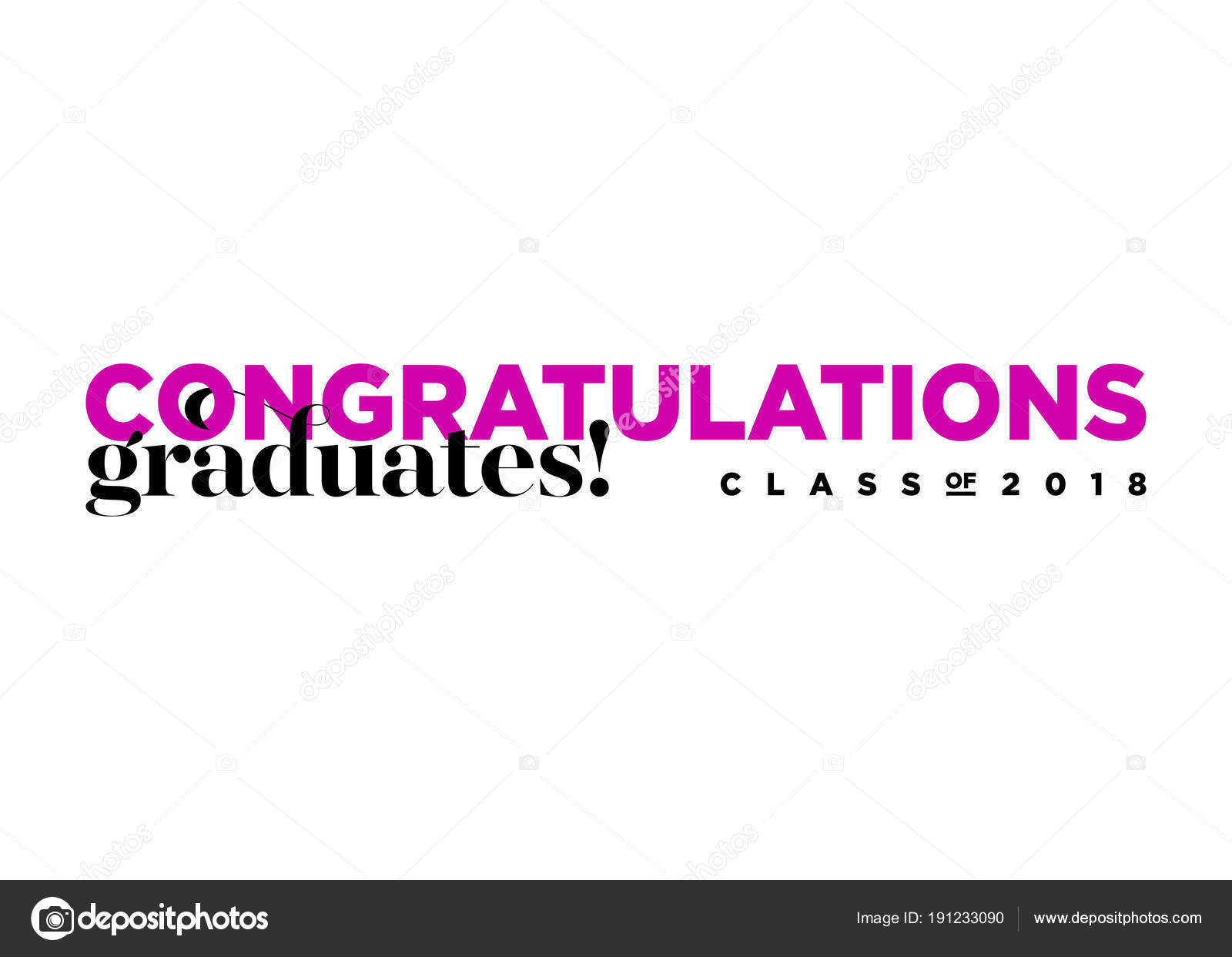 Congratulations Graduates Class Of 2018 Vector Logo Creative