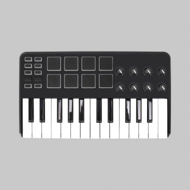 Musical instrument - MIDI keyboard. Isolated