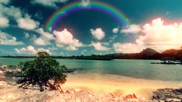 The island of Mauritius. The coastline of the ocean.