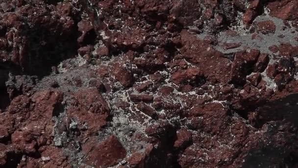 červené sopečné horniny v horách