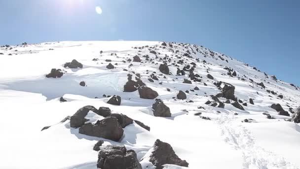 východní vrchol Elbrus ze sedla
