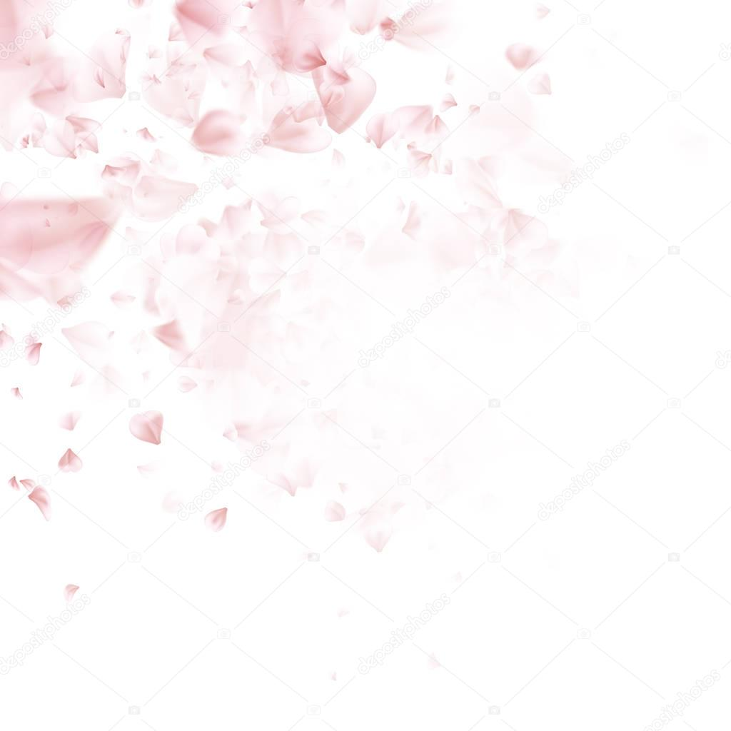 Cherry Blossom. Pink sakura flowers. EPS 10