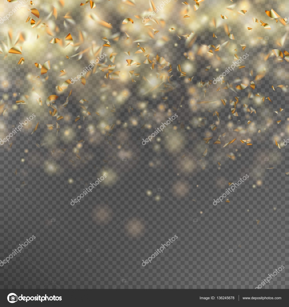 Gold glitter bright vector transparent background golden sparkles - Falling Gold Glitter Particles And Lights Effect Golden Sparkling Template For Brightly Design Star Dust Sparks In Explosion On Transparent Background