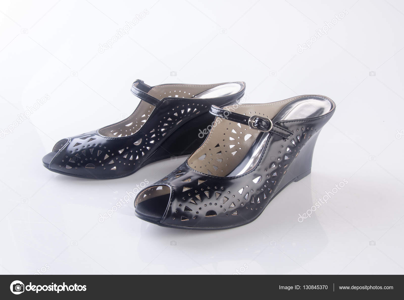 Schuhe Einem Auf Oder Schwarze Hintergrund Schuh Farbe Lady F3T1JculK