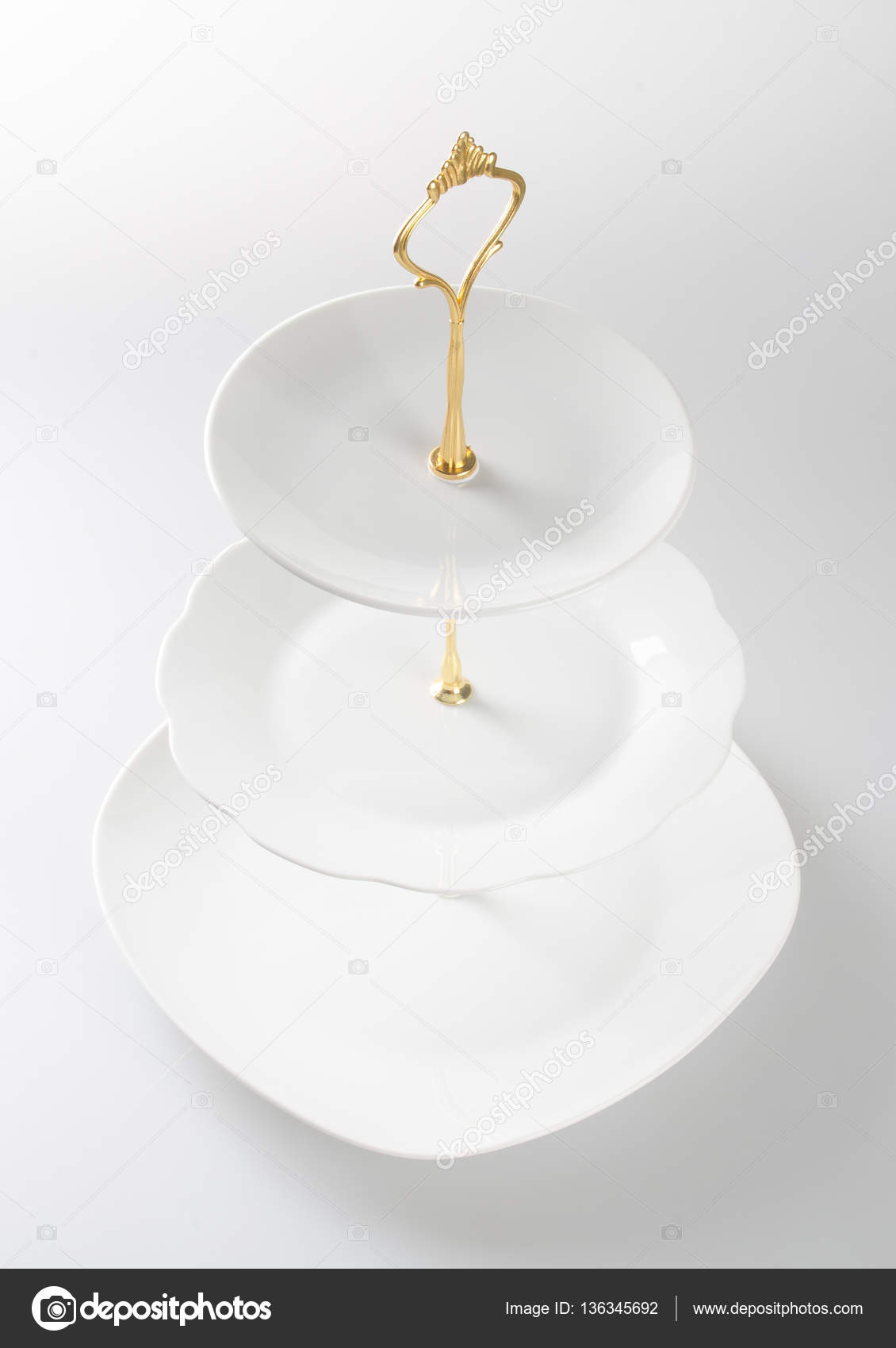 Tray Or Three Tier Serving Tray On A Background Stock Photo C Heinteh 136345692