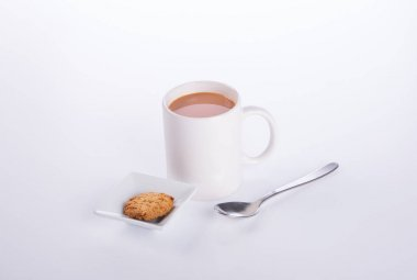 coffee or coffee with cookies on background