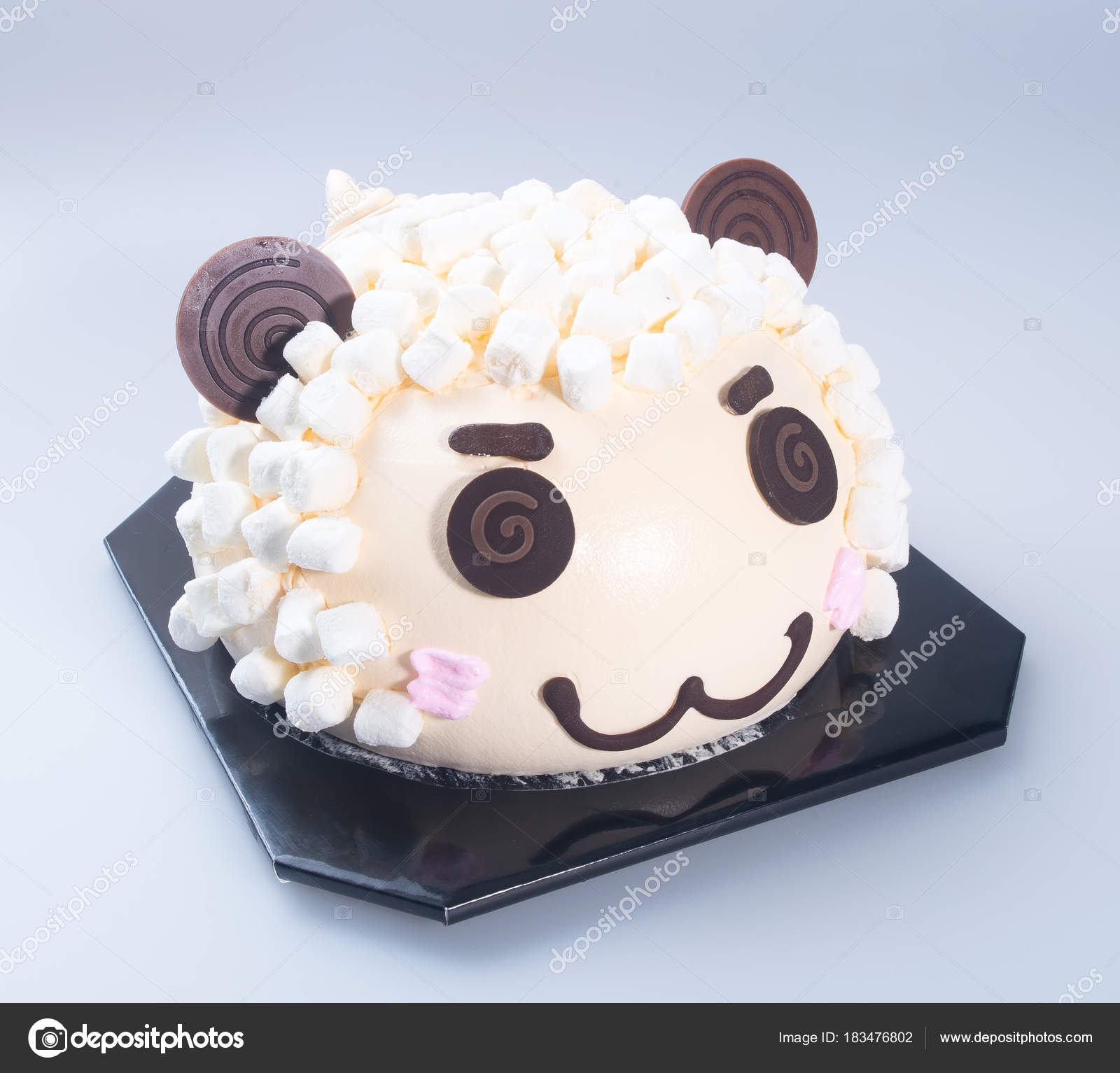Cake Or Sheep Birthday On A Background Photo By