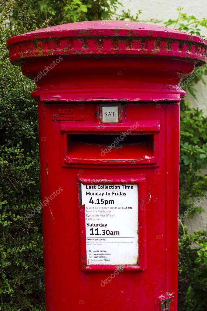Boite Aux Lettres Rouge Traditionnel Londres Photographie