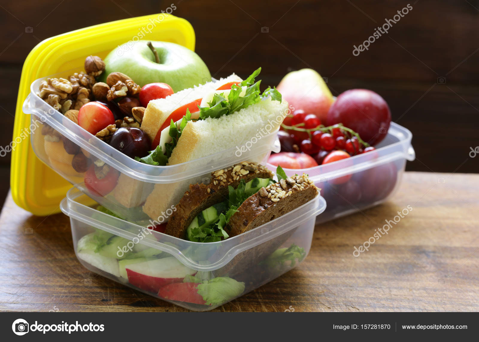 Boîte à Lunch Pour Une Alimentation Saine à Lécole Et Le