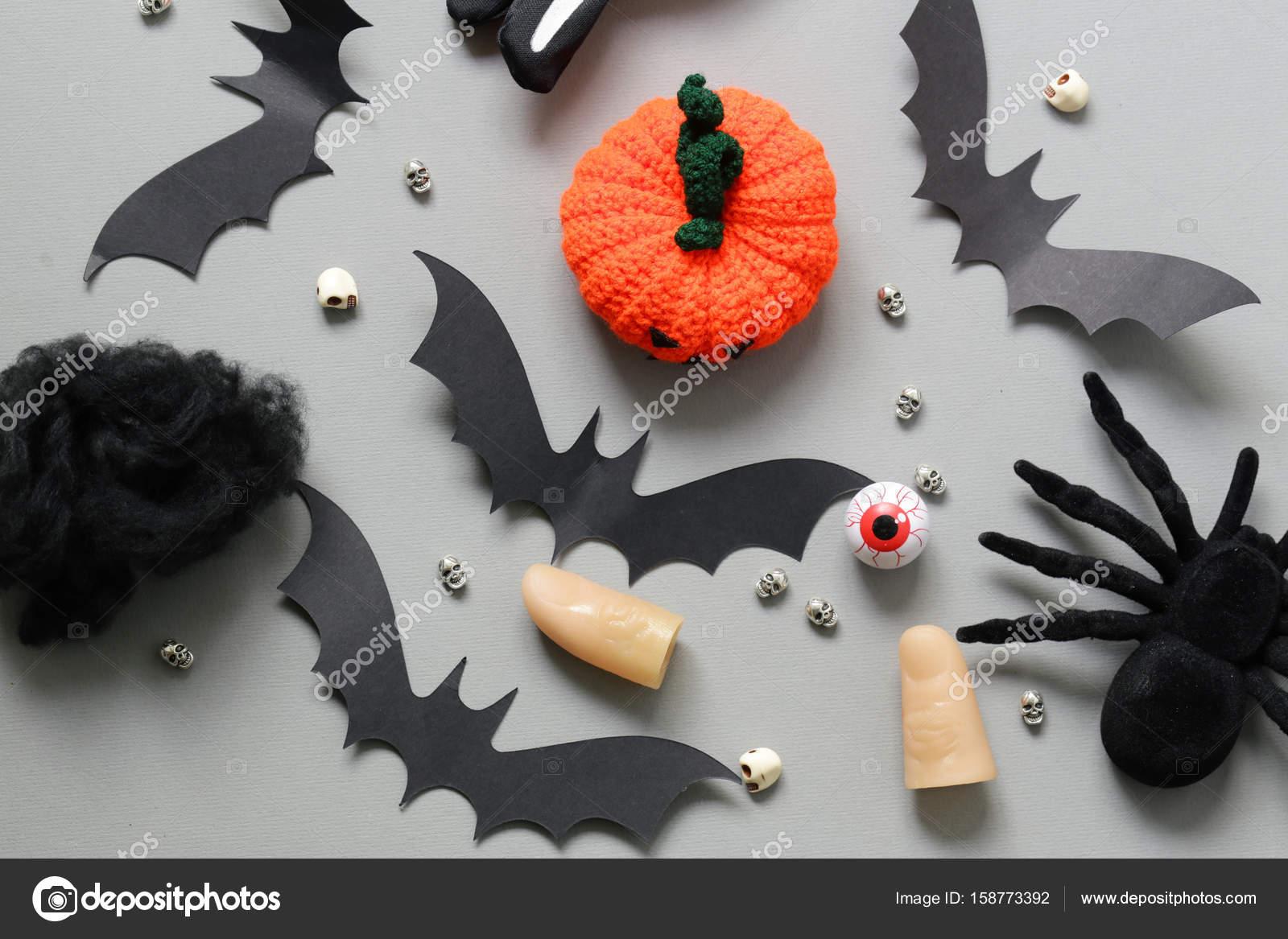 Happy Halloween Verscheidenheid Van Dingen Voor Decoratie Voor De