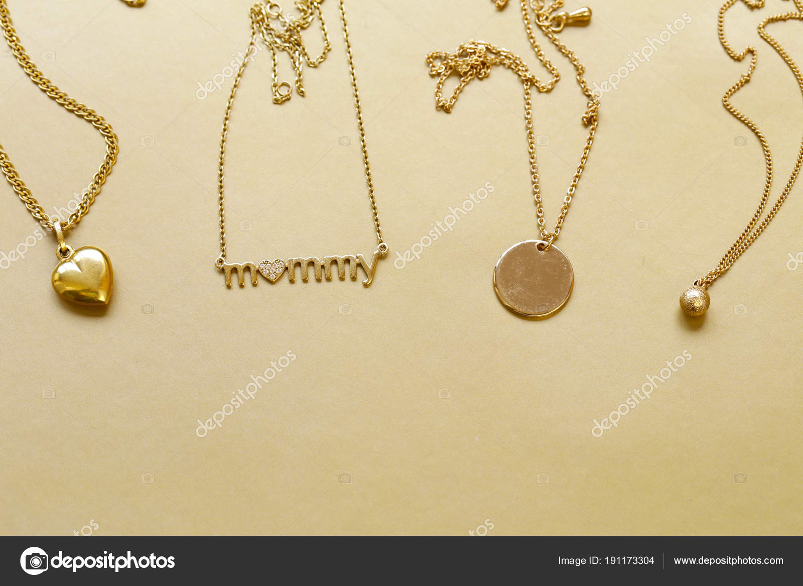Gold chains necklaces pendants stock photo dream79 191173304 gold chains necklaces pendants stock photo aloadofball Choice Image