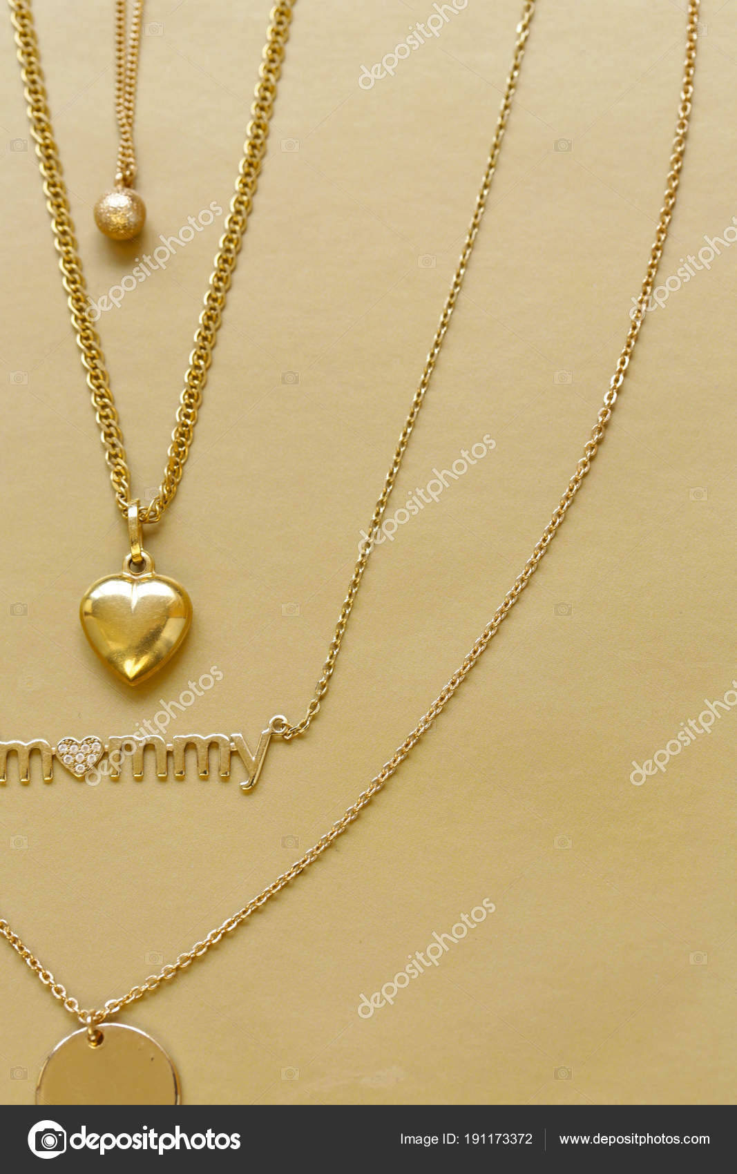 necklaces gold depositphotos pendants stock photo chains