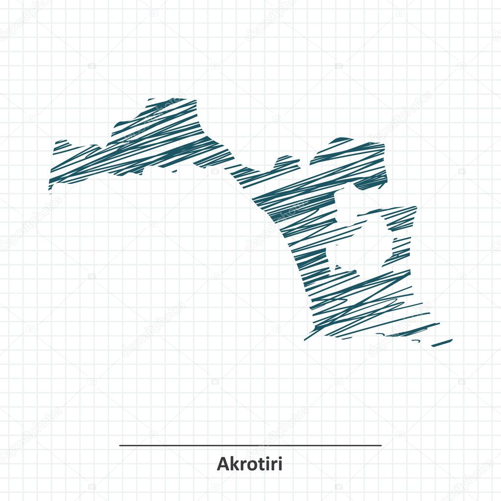 Doodle sketch of Akrotiri map Stock Vector lajo2 125075132