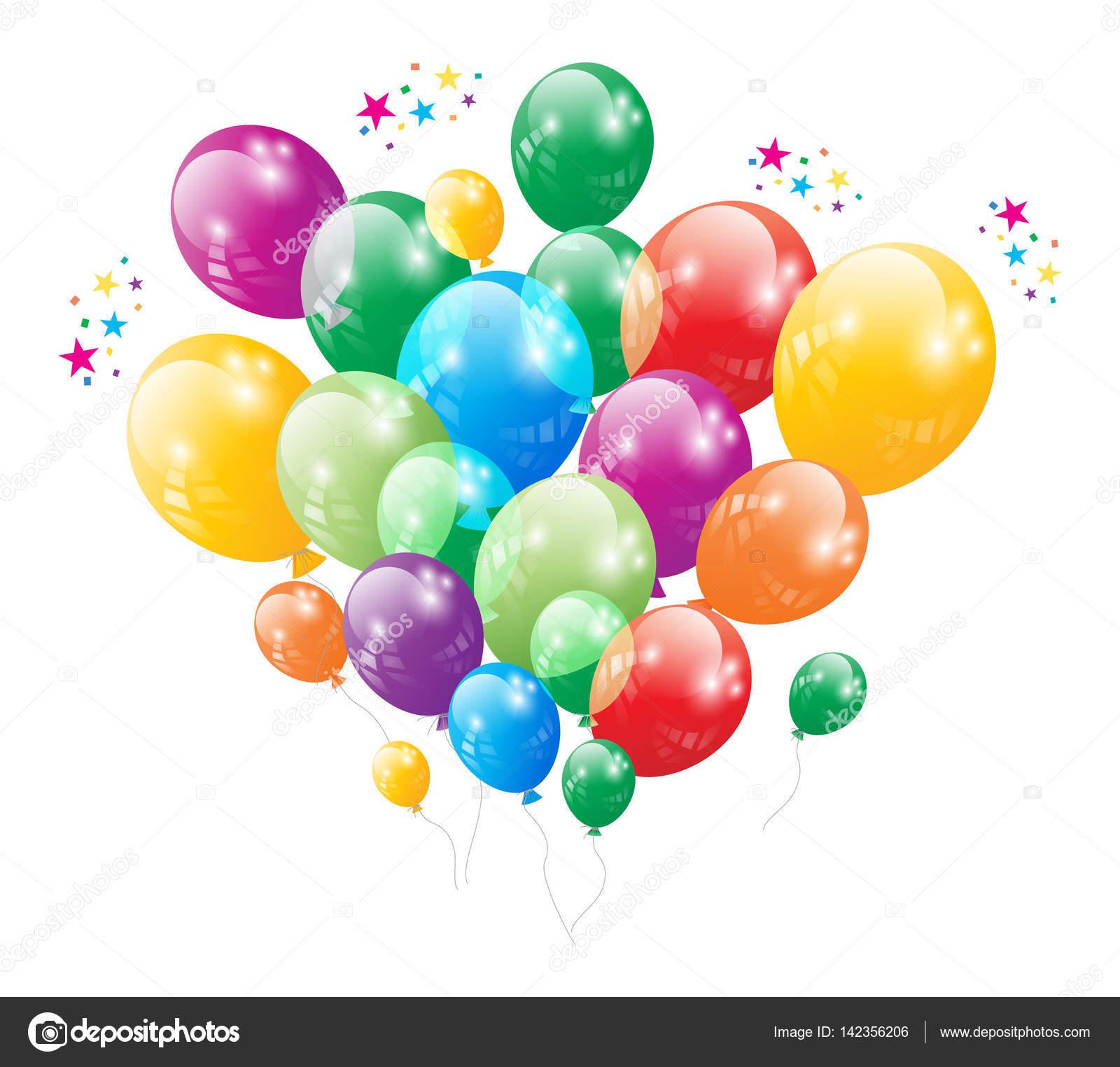 Geburtstag Party Ballon Vektor Stockvektor C Bagiuiani 142356206