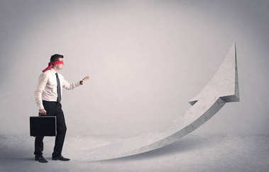 Businessman with blindfolds