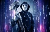 Armati di hacker nel concetto della nuvola di cyber security