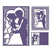 nevěsta a ženich silueta