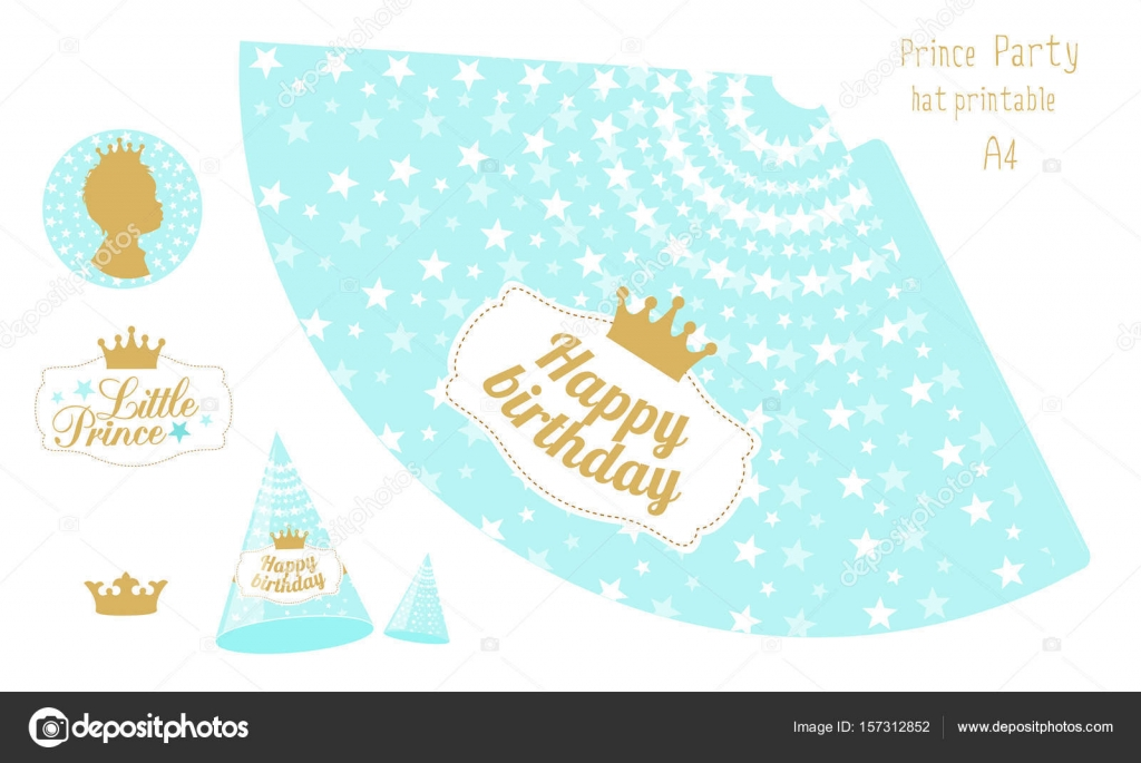 photograph about Printable Hats titled Paper birthday crown template Bash hats printable. Blue