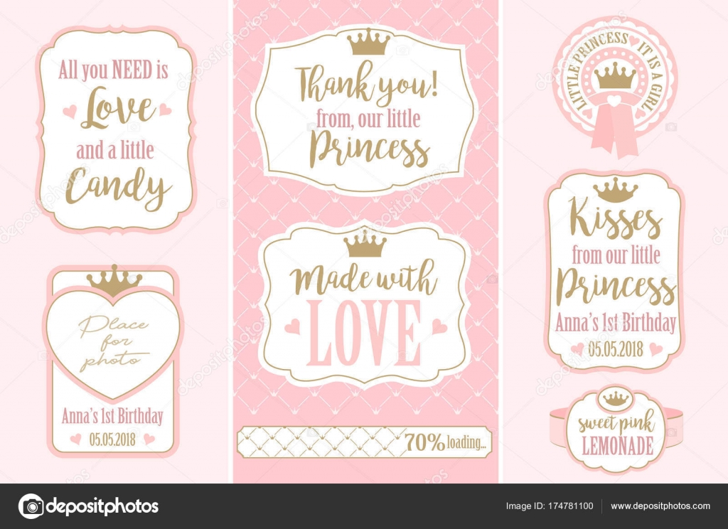 Set Vector Vintage Frames Templates Gift Tags Royal Party Wedding ...
