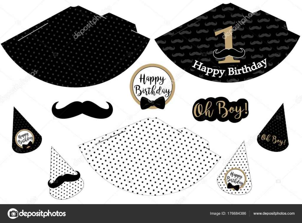 photograph regarding Printable Hats identified as Shots: minor male mustache Minimal Person Printable Hats