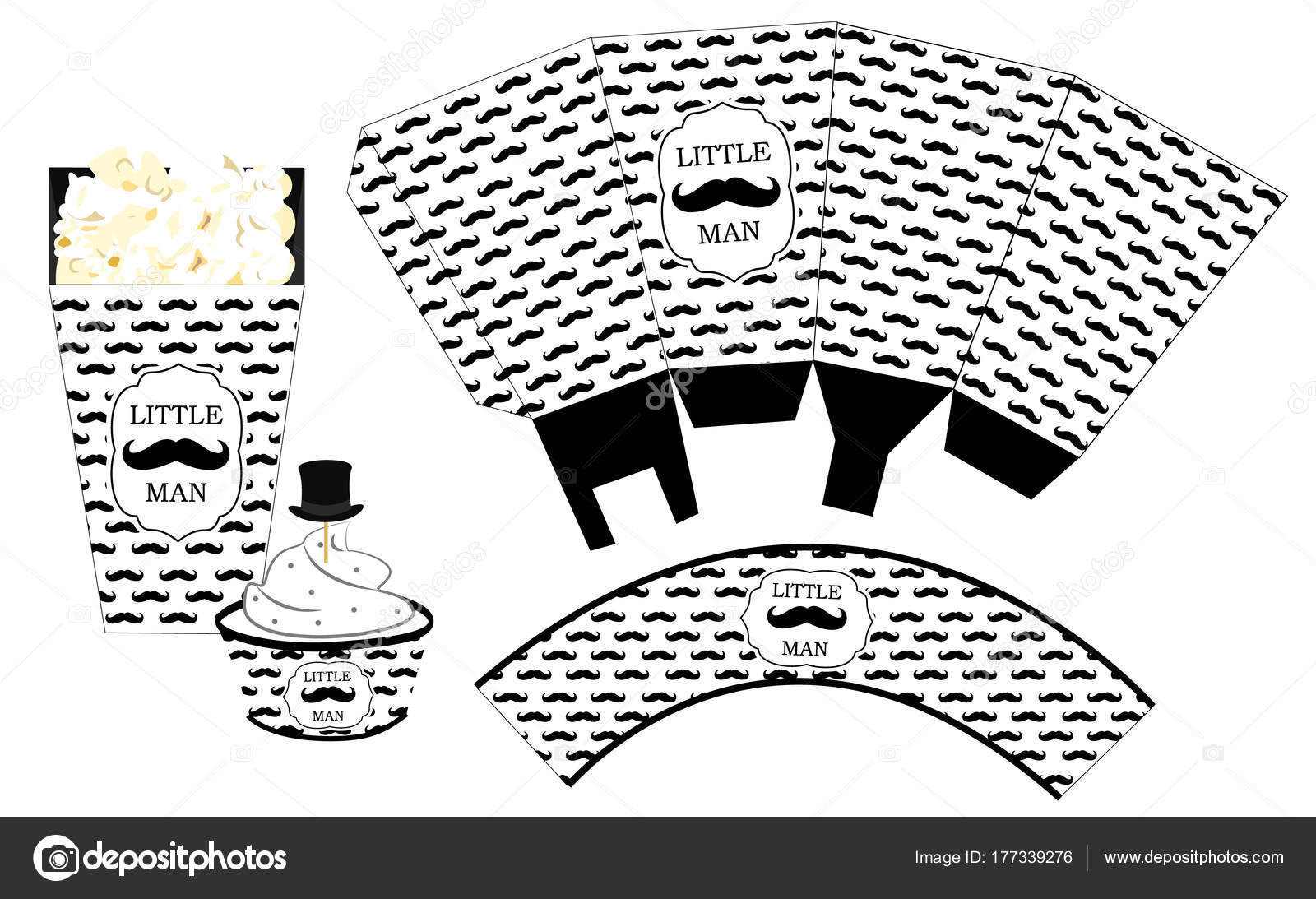 photo relating to Printable Popcorn Template referred to as Cupcake templates printable Popcorn Paper Box Cupcake