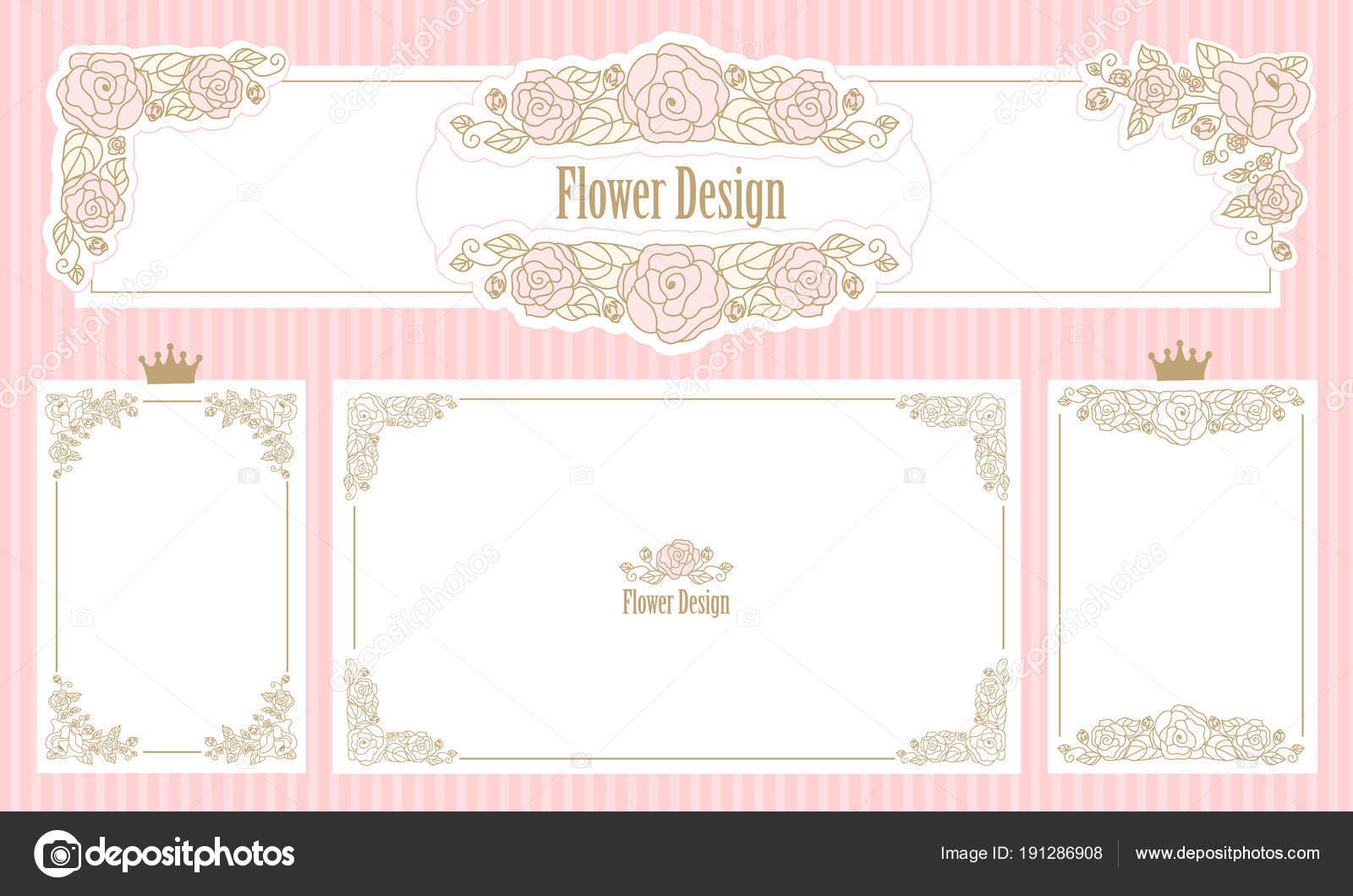 Marco Floral Royal Conjunto Las Fronteras Flor Invitación Boda ...