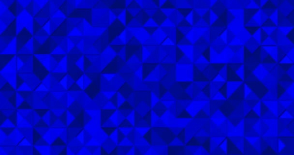 4k royal blue geometric animated background with little light triangular. Elegant premium seamless looped gradient pattern. Minimal luxury modern empty colorful banner. Men halftone monochrome mosaic