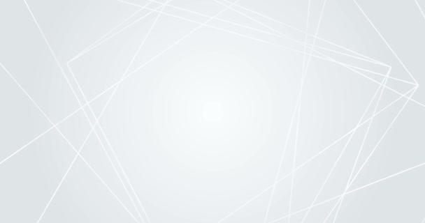 Elegantní světle šedá bílá smyčka gradient pozadí. Abstraktní tekutina geometrické linie vzor. Firemní video prezentace, narozeninová oslava. Nekonečný náhodný pohyb moderního mnohostěn. Textový prostor