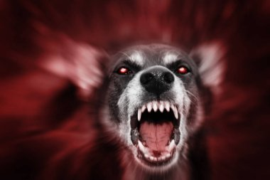 Red glowing eyed scary beast