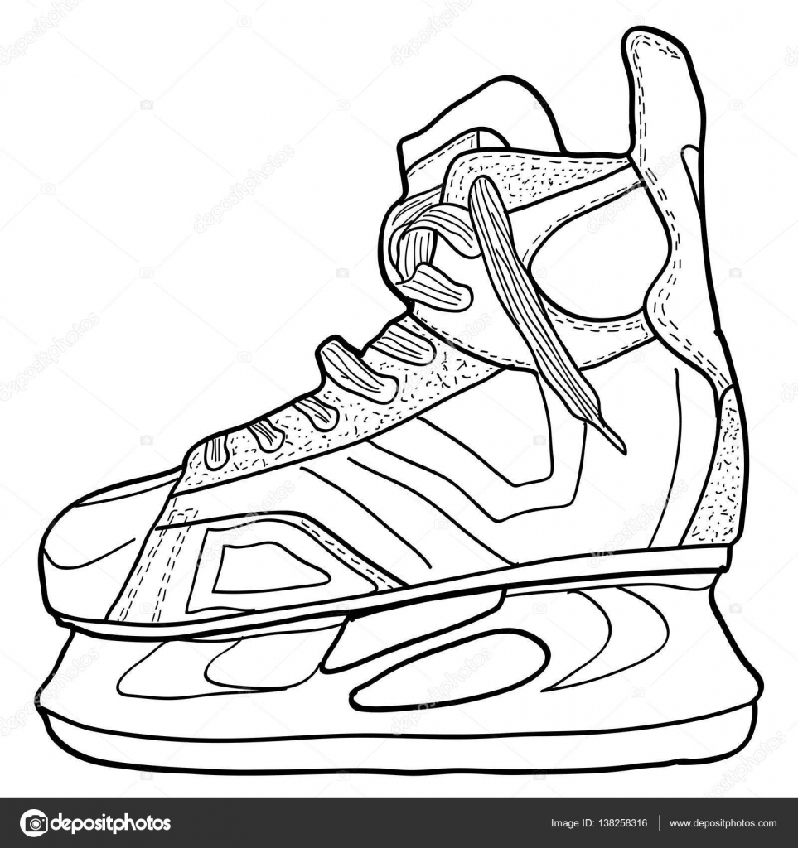 Dibujo de hockey sobre patines. Patines para jugar al hockey sobre ...