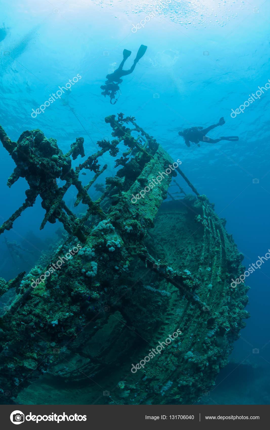 bodem gezonken schip wrak onderwater duiken sudan rode zee