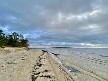 Baltic Sea autumn coast beach Bolderaja Riga Latvia