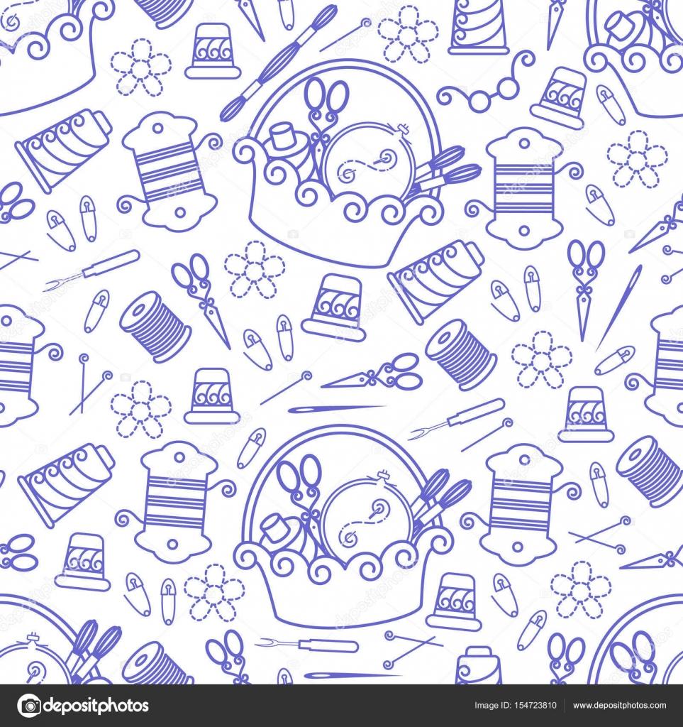 Handwerk und Hobby liefert Muster — Stockvektor © matik22 #154723810