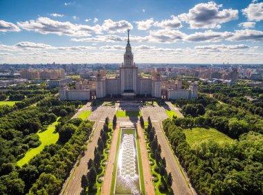 Aerial view of Lomonosov Moscow State University, Moscow