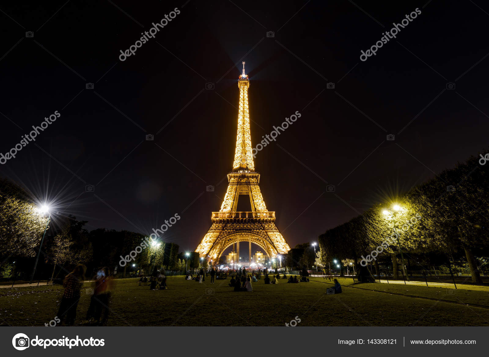 Paris September 24 2013 Lighting Of The Eiffel Tower At Night The Eiffel Tower Is One Of The Major Tourist Attractions Of France Photo By Scaliger