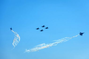 Air show from the team