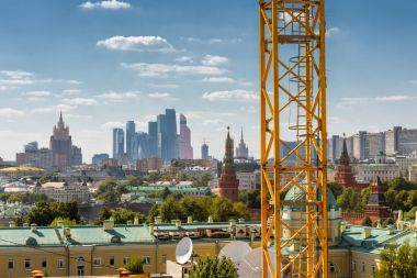 Modern urban construction in central Moscow