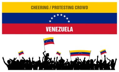 Cheering or Protesting Crowd Venezuela