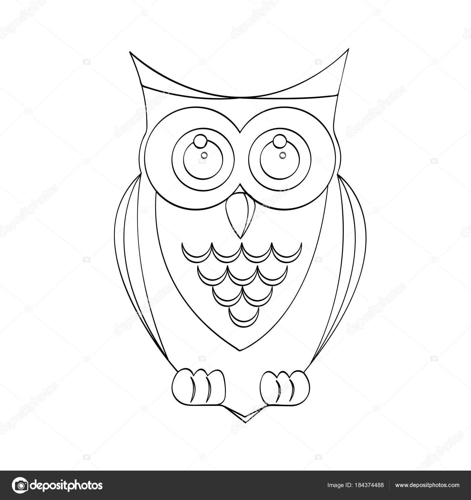 Vektor-Illustration Karikatur Eule Vogel für Kinder Zeichnung ...