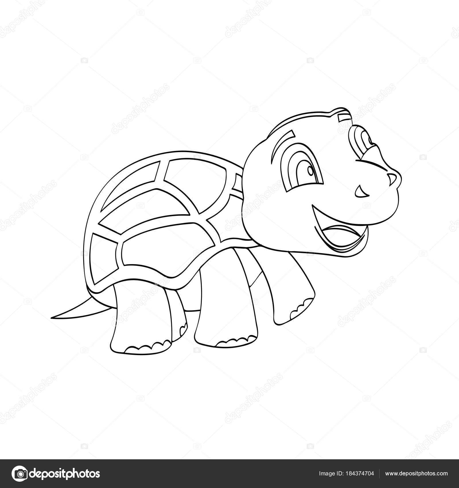 Imágenes Infantiles De La Tierra Para Colorear Esquema Tortuga