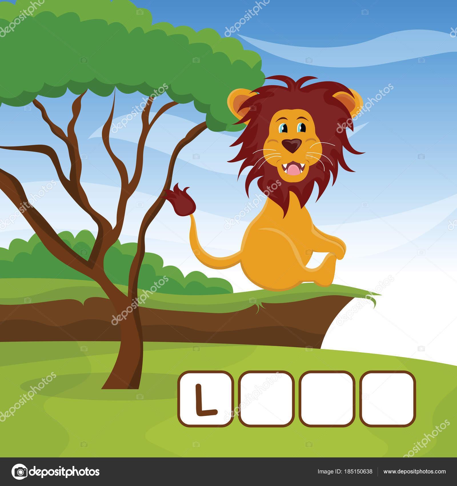 Lustige Kreuzworträtsel Spiel mit niedlichen Cartoon auf ...