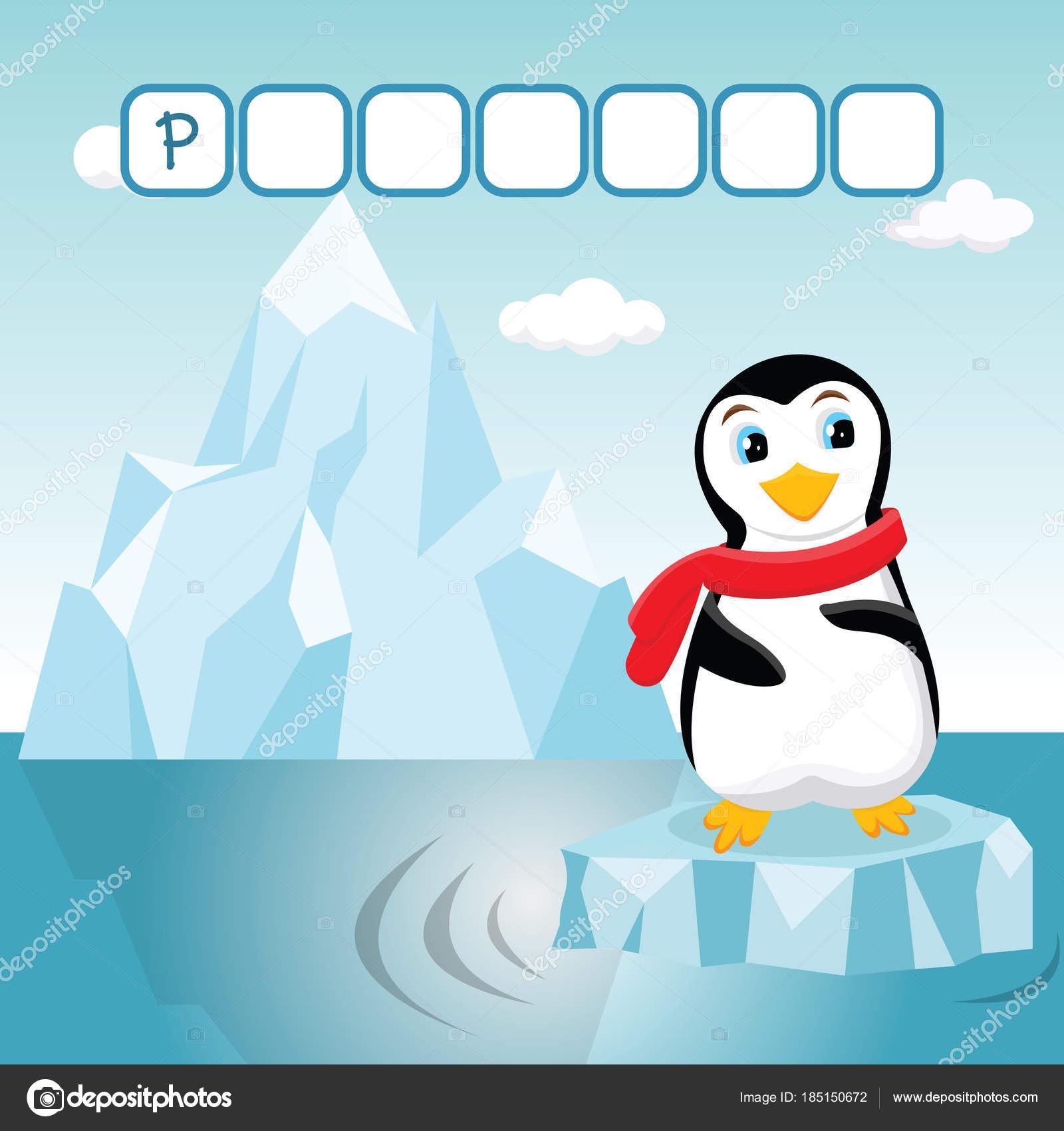 Lustige Kreuzworträtsel Spiel mit niedlichen Cartoon des kleinen ...