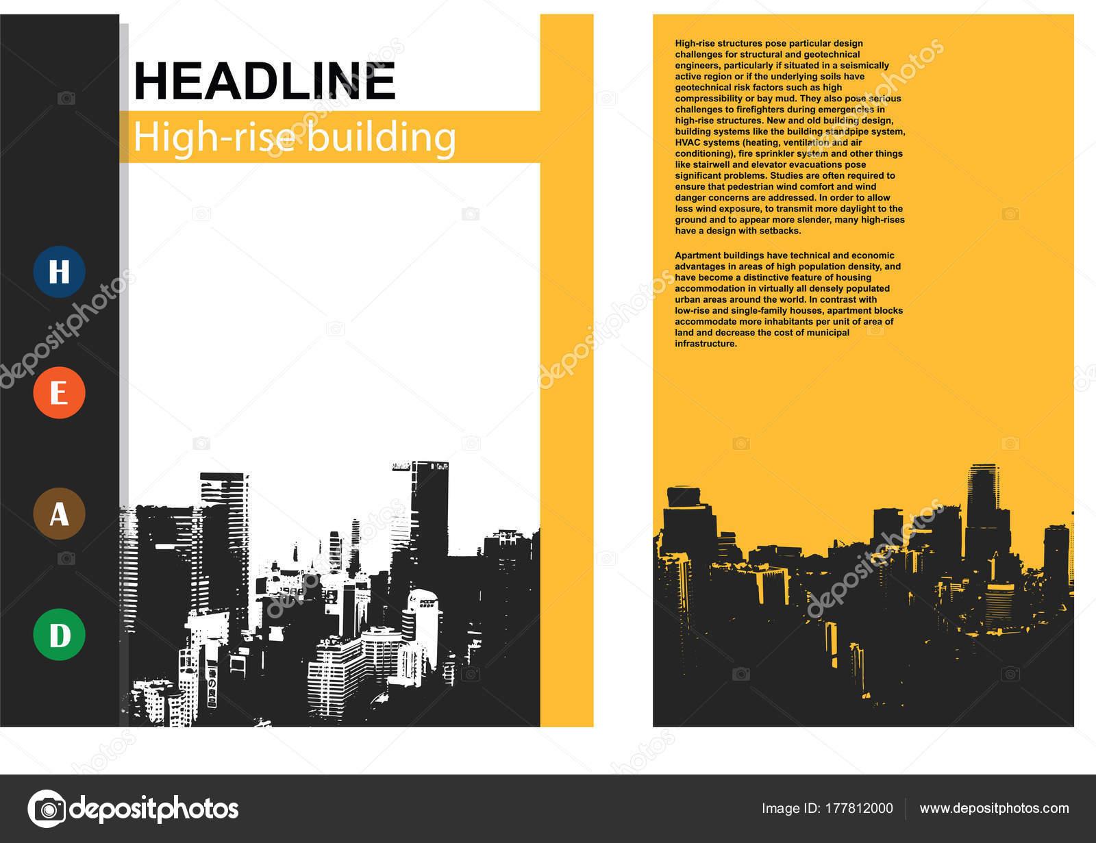 banner flyer template leaflets for presentation advertising