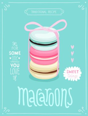 Macaroons Poster - template for your design.