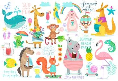 Animals hand drawn style,