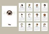Kalender mit zwölf verschiedenen Hunden Cover mit Mops