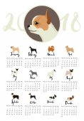 Hundesammlung Kalender mit Chihuahua und anderen Hunden Monate